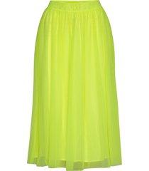 double layer mesh skirt knälång kjol gul calvin klein jeans