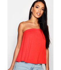 basic swing bandeau top, tangerine