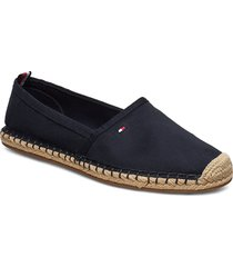 basic tommy flat espadrille sandaletter expadrilles låga blå tommy hilfiger