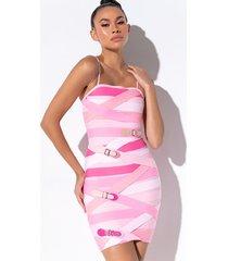akira buckle up bandage mini dress
