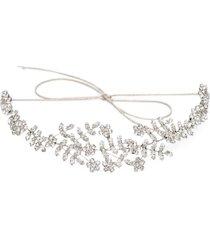jennifer behr izabella silver-tone crystal headband