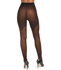inc women's swiss-dot backseam tights, created for macy's