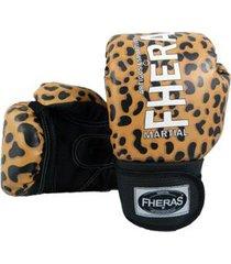 luva boxe muay thai new top onça fheras 04 oz
