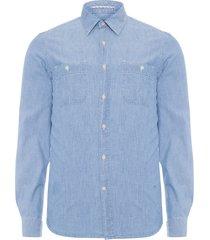 camisa masculina indigo normandia - azul