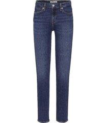 jeans mid rise slim azul calvin klein
