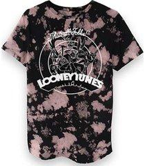 camiseta bandup! masculina looney tunes black and white party