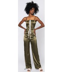akira you know what to do lace up detail jumpsuit