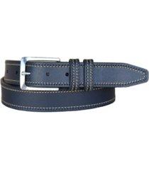 lejon men's wrigley oil tanned harness leather casual jean belt