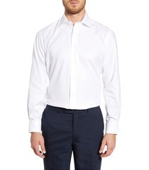 men's big & tall david donahue regular fit oxford dress shirt, size 17 - 36/37 - white