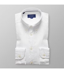 eton heren overhemd royal oxford button-down slim fit wit