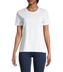 armani jeans women's tonal logo t-shirt - fancy white - size 40 (6)