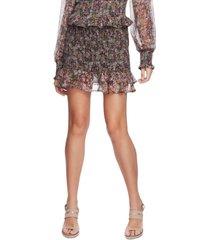 1.state smocked floral-print skirt