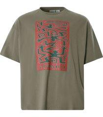 gramacci primitive slit t-shirt   ash   gut21s008bd-wt