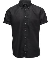 hoxton-green-slim fit kortärmad skjorta svart eton