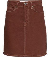 mandela denim skirt color kort kjol brun tomorrow