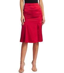 blaise pleated silk-blend skirt