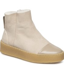 bonny shearling boot shoes boots ankle boots ankle boots flat heel beige filippa k