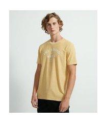 "camiseta manga curta estonada ""the sound of waves"" | ripping | amarelo | m"