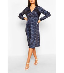 abstract spot button front midi dress, multi