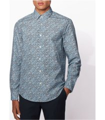 boss men's lukas f regular-fit floral shirt