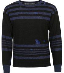 maison margiela stripe detail sweater