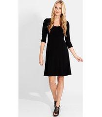 women's karen kane a-line jersey dress, size x-small - black