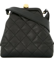 chanel pre-owned 1994-1996 diamond quilted tote bag - black