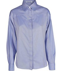 agnona light blue cotton shirt