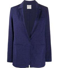 forte forte deep v-neck blazer - blue