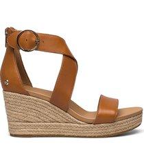 w hylda sandalette med klack espadrilles brun ugg