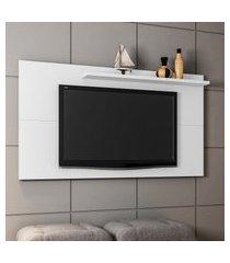 painel para tv até 50 pol móveis bechara chanel 1 prateleira branco