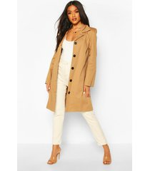 button through mac trench coat, camel