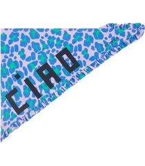 clare v. ruffle bandana, size one size - purple