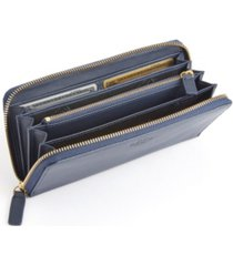 royce new york rfid blocking zippered continental wallet