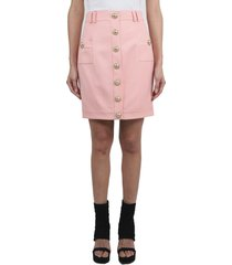 balmain pink skirt