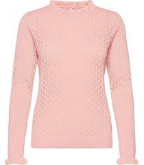 nubethea pullover stickad tröja rosa nümph