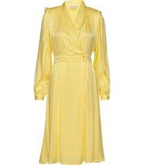 lynngz dress ms20 jurk knielengte geel gestuz