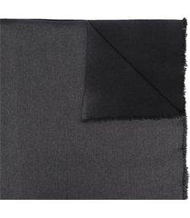 forme d'expression fringe-hem draped scarf - black