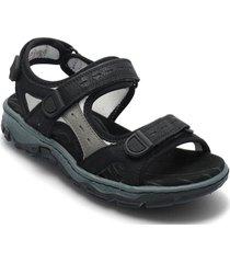 68872-13 shoes summer shoes flat sandals svart rieker