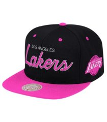 mitchell & ness los angeles lakers sweetheart script snapback cap