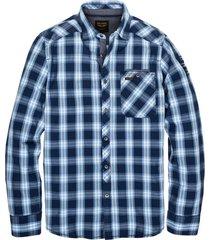 pme legend blauw overhemd lange mouw