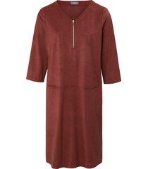 jurk met 3/4-mouwen van basler bruin