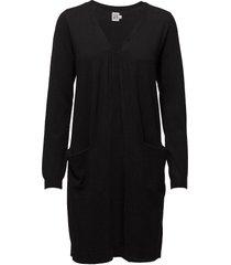 long cardigan with pockets gebreide trui cardigan zwart saint tropez