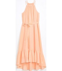 loft flounce halter midi dress