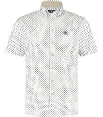 state of art hemd korte mouw met opdruk wit