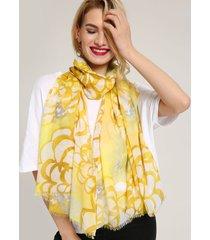 sciarpa lunga etnica del fiore della stampa del sunmmer delle donne soft sciarpe dello scialle del tessuto pettinato scialle della protezione solare