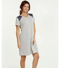 camisola estampa bolinhas manga curta marisa - 10039159342 feminina
