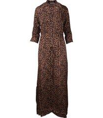 laneus animalier print chemisier dress