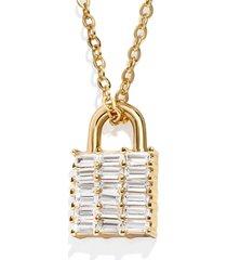 women's baublebar kwan lock pendant necklace
