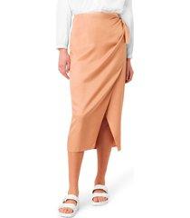 women's french connection gabina drape skirt, size 12 - brown